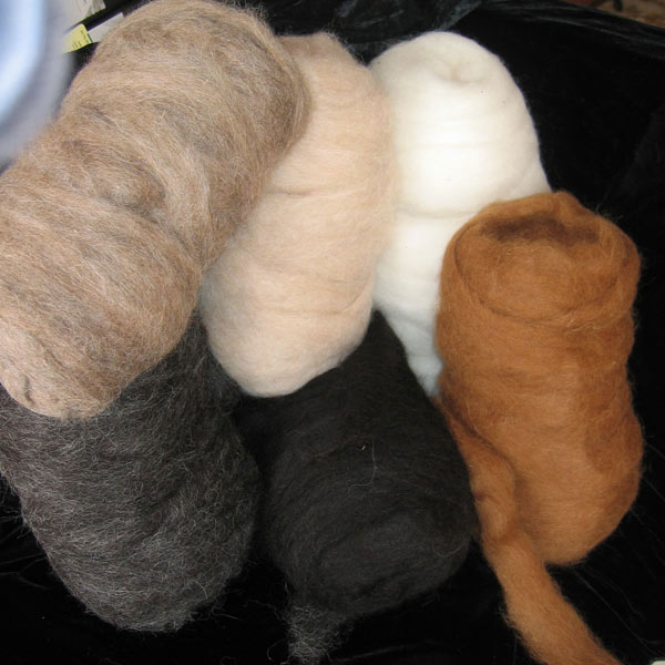 Balls of alpaca wool