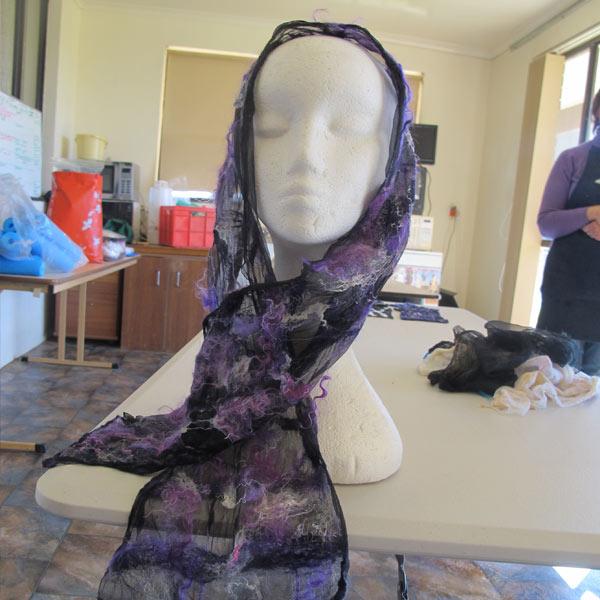 Nuno felting scarf